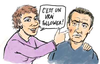 un vrai follower sur twitter