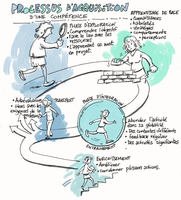 les étapes pour développer les compétences
