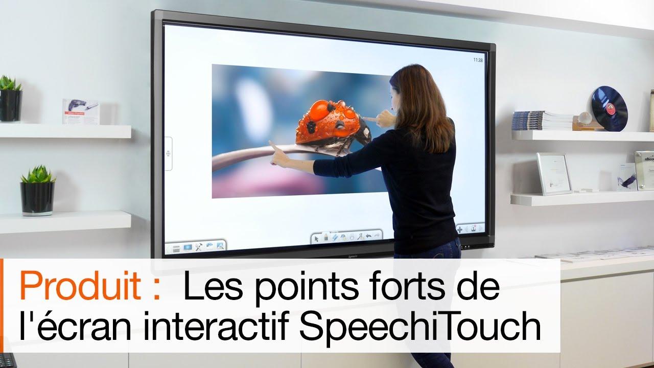 vidéo d'un écran interactif