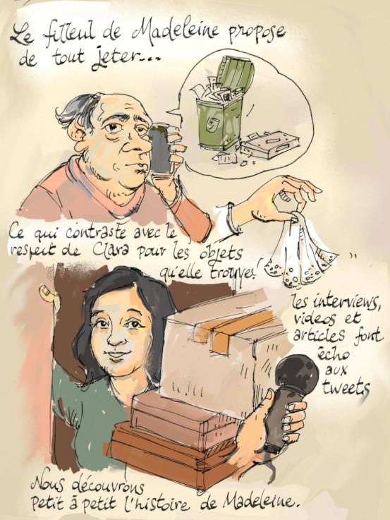 Madeleine project en trois dessins