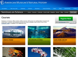 Seminars on Science : image tirée du site de l'AMNH