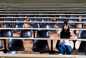 "<a href=""http://www.shutterstock.com/gallery-270058p1.html"">Alone in university lecture hall </a>-  Michael Jung- ShutterStock"