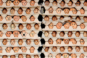 "Faces on the eggs - <a href=""http://www.shutterstock.com/gallery-1574846p1.html"">Kemal Taner</a> - Shutterstock"