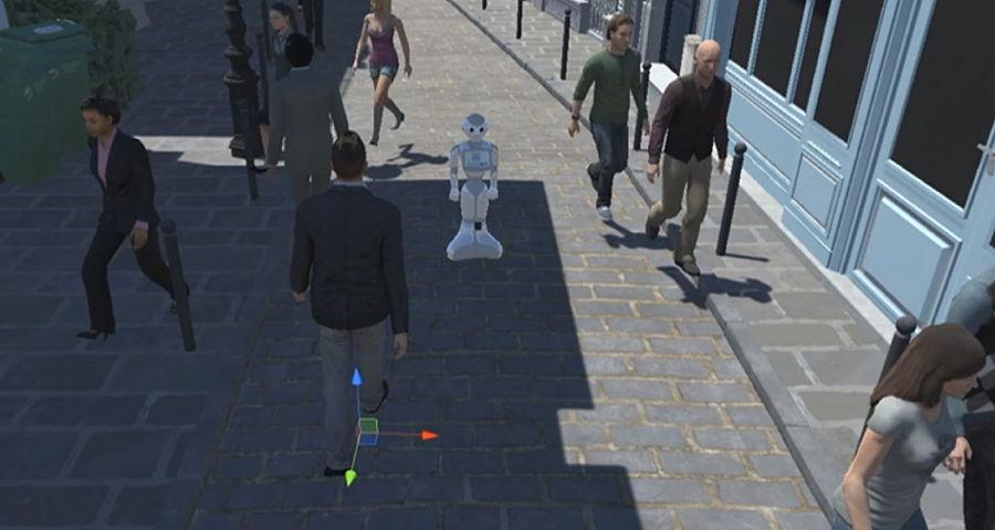 Crowdbot, un consortium coordonné par Inria, s'intéresse aux questions du déplacement des robots dans les lieux publics et les foules. On attend d'eux un comportement civilisé.