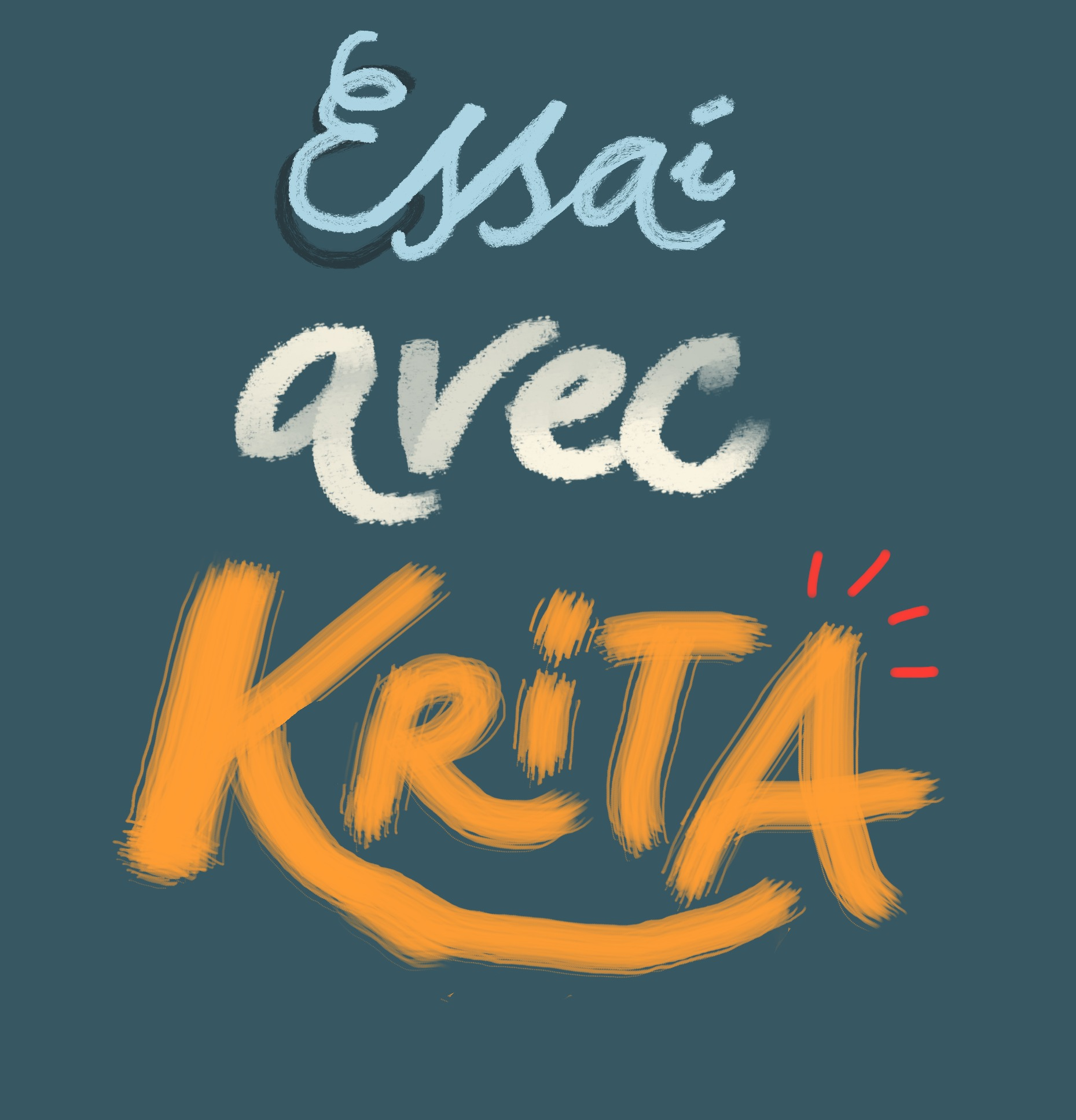 Un essai avec Krita