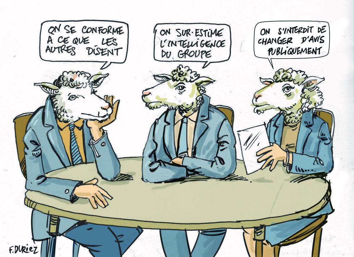 trois moutons se censurent