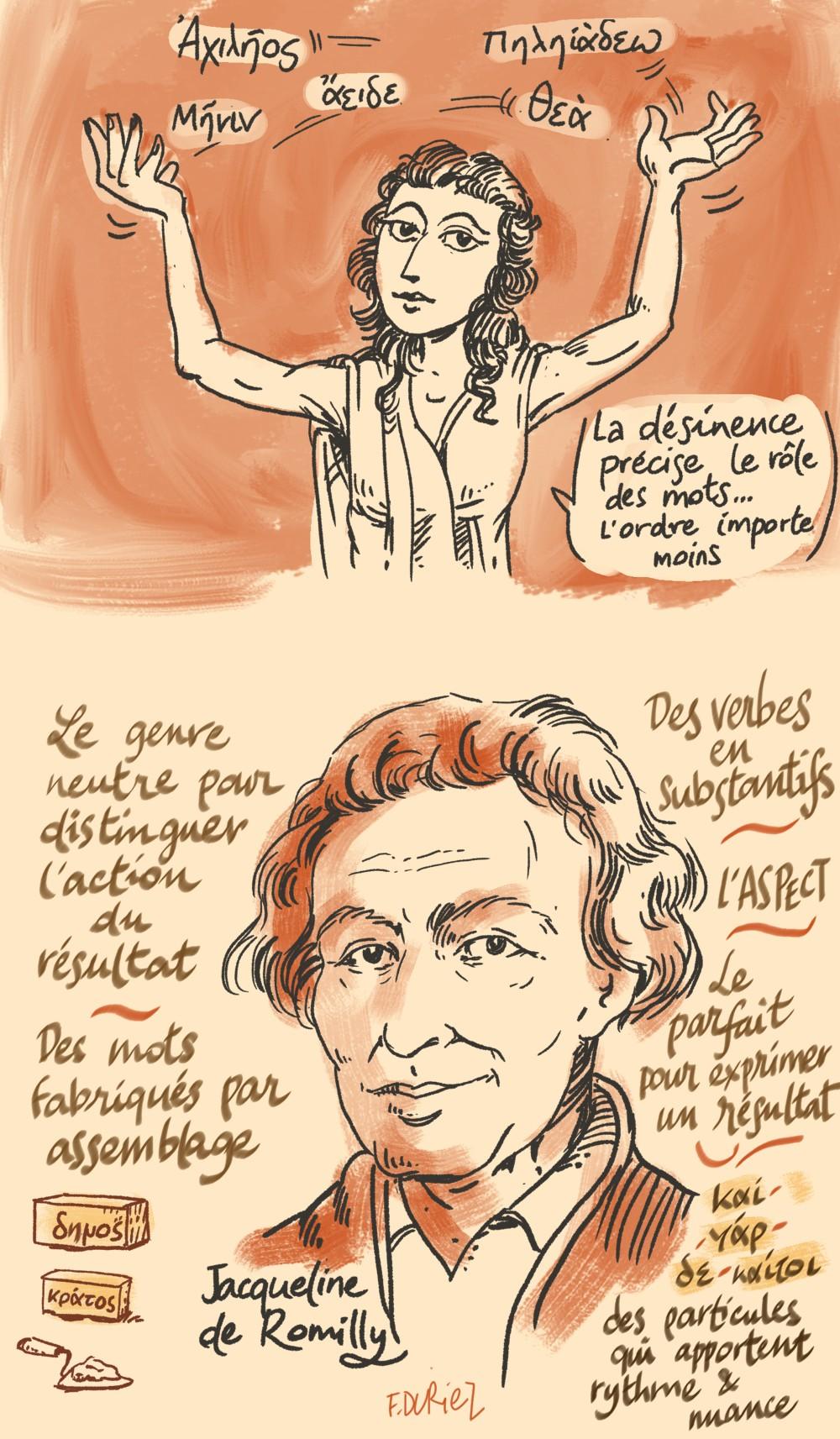 Jacqueline de Romilly  et Monique Trédé