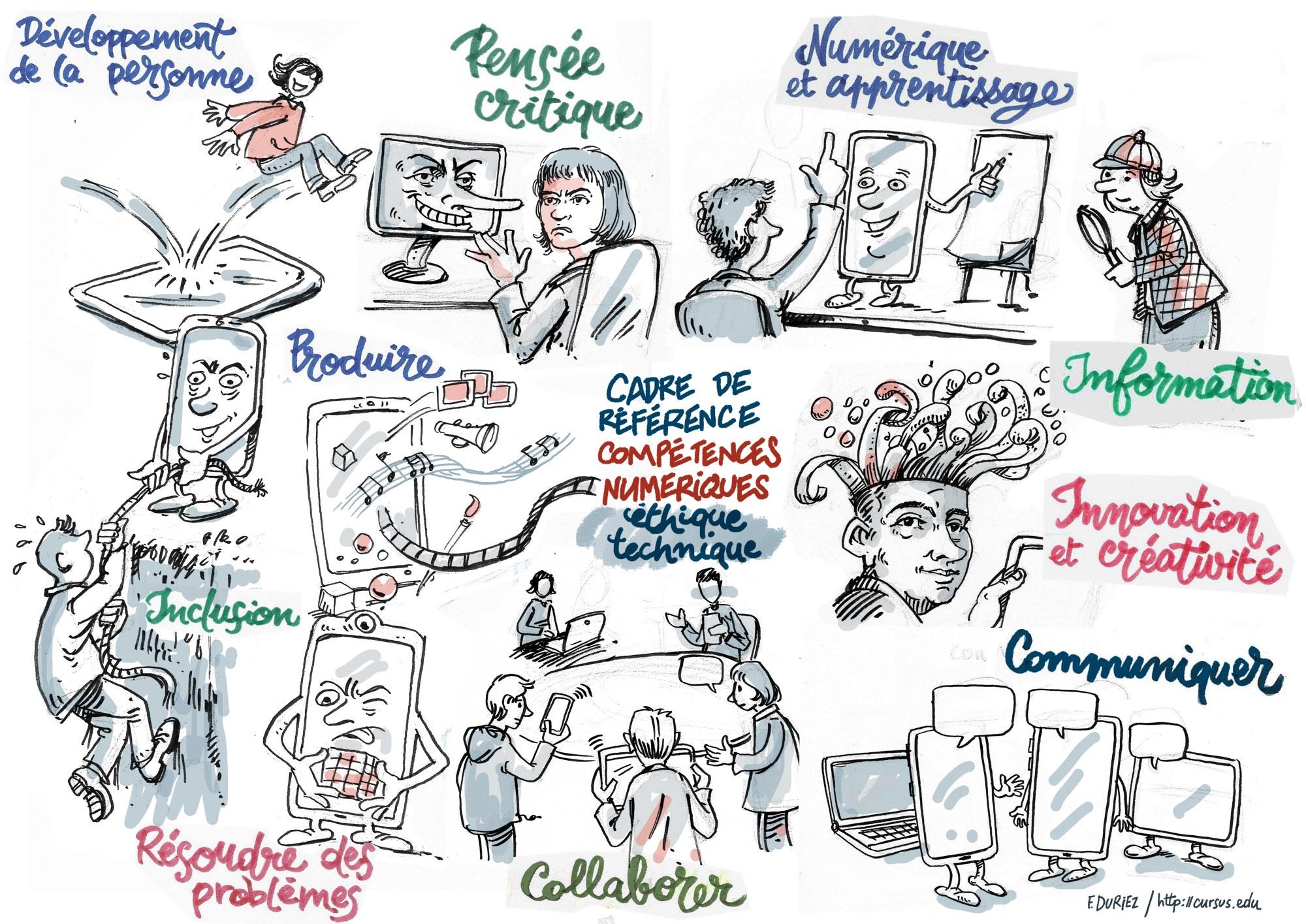 les compétences numériques - cadre proposé par le Quebec en 2019