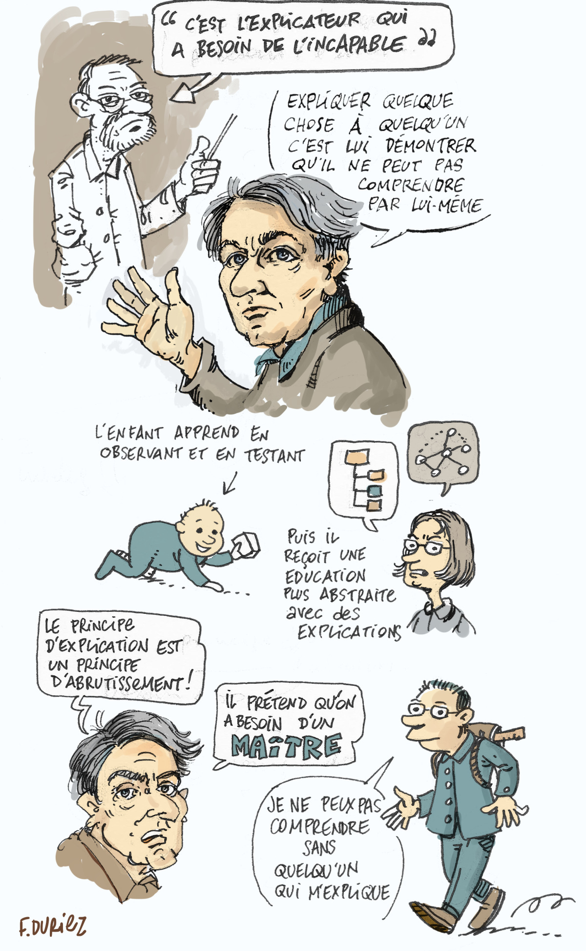 Jacques Rancière - c'est l'explicateur qui a besoin de l'incapable