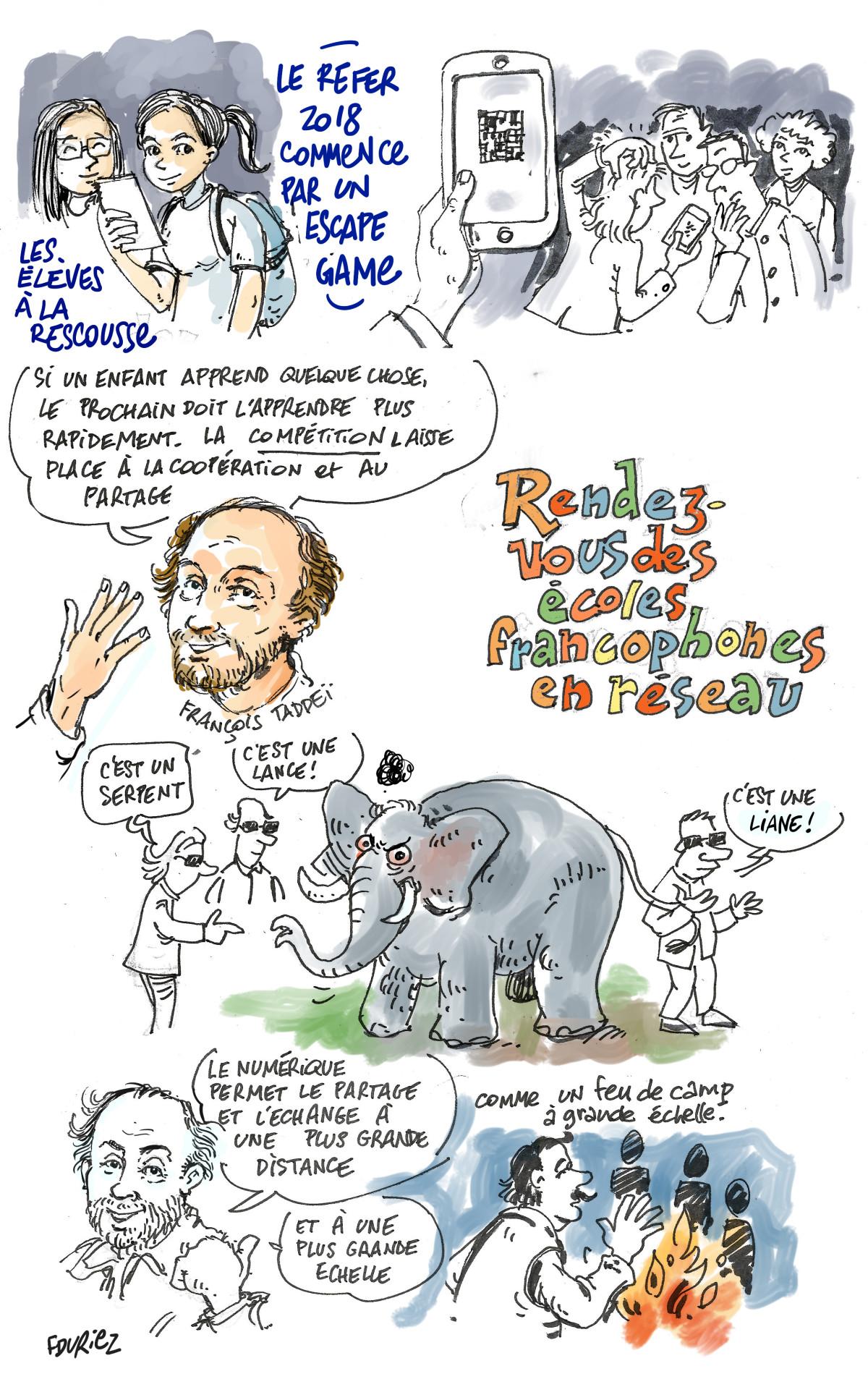 François Taddeï : l'éléphant et les aveugles, allégorie