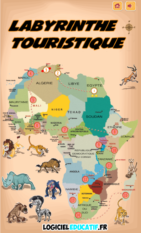 Carte De Lafrique Quiz.Les Jeux Ludoeducatifs En Ligne Sur L Afrique 1 De 2